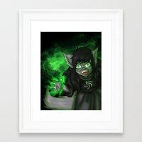 homestuck Framed Art Prints featuring Homestuck: Grimbark Jade by EternalAshley225