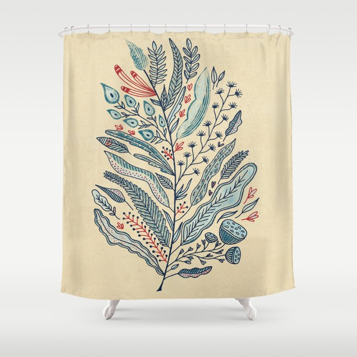 Turning Over A New Leaf Shower Curtain