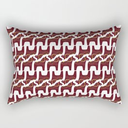 red Dala horse design Rectangular Pillow