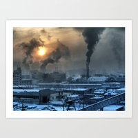 industrial Art Prints featuring Industrial by Abramskama