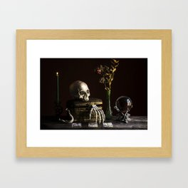 Vanitas, Memento Mori, Macabre Halloween Photo Framed Art Print