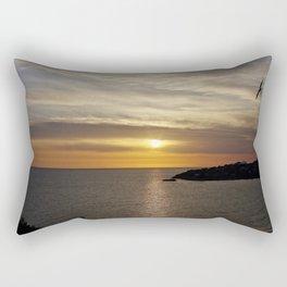 Sunset over the sea of Gaeta Rectangular Pillow