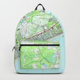 Map of North Myrtle Beach South Carolina (1990) Backpack