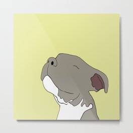 Sunny The Pitbull Puppy Metal Print