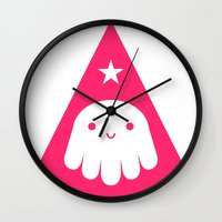 wizard Wall Clocks featuring Wizard by Momo & Sprits