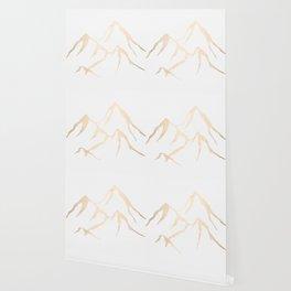Adventure White Gold Mountains Wallpaper