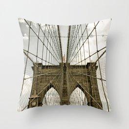 Brooklyn Bridge NYC Throw Pillow