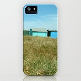 Beach Huts Relaxation iPhone Case