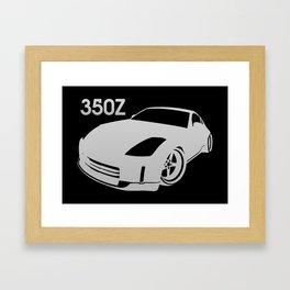 Nissan 350Z - silver - Framed Art Print