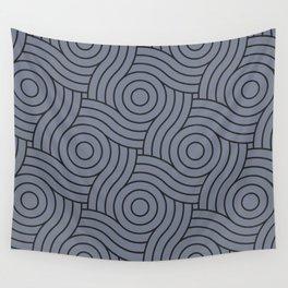 Circle Swirl Pattern Grayish Blue Inspired By VA Hazy Blue, Seattle Haze Blue Gray, Twinkle Twinkle Wall Tapestry