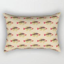 Vintage Colorful Antique Fish Rectangular Pillow