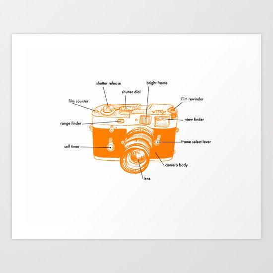 leica diagram orange Art Print