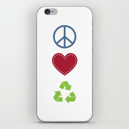 Peace Love Recycle Earth Day Environmental Awareness iPhone Skin