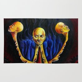 Oil painting Dark nightmare Splitting Rug