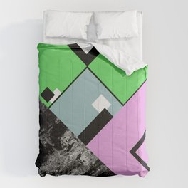Conformity - Abstract, Textured, Geometric, Pop Art Comforters