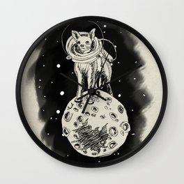 Spacihuahua Wall Clock