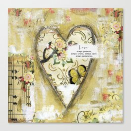 LOVE always protects  Canvas Print