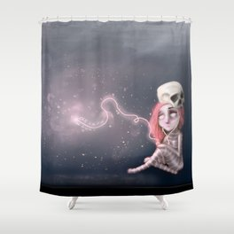 Still waiting for something that is not here yet Shower Curtain