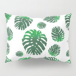 Monstera Deliciosa pattern Pillow Sham