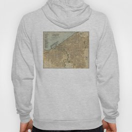 Vintage Map of Cleveland OH (1894) Hoody