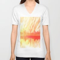 india V-neck T-shirts featuring INDIA by Drexler3
