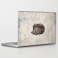 hedgehog Laptop & iPad Skins featuring Hedgehog by Mr and Mrs Quirynen
