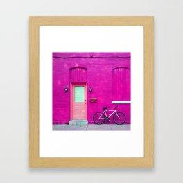 fuchsia house Framed Art Print