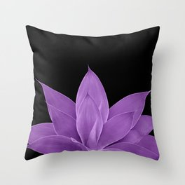 Purple Agave #1 #tropical #decor #art #society6 Throw Pillow