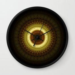 Mandala Place of Silence Wall Clock