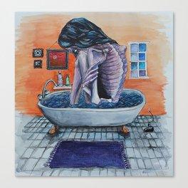 Bathtub Girl Canvas Print