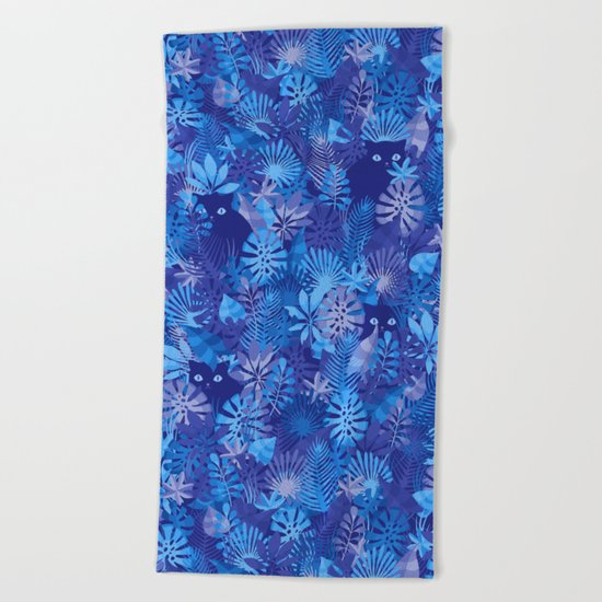 Foliage Disguise Beach Towel