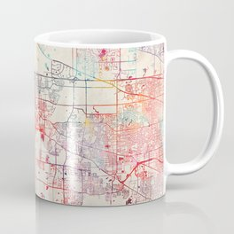 Elgin map Illinois painting Coffee Mug