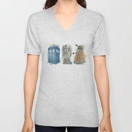 Dr Who Unisex V-Neck
