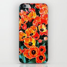 Bright Red Tulips of Istanbul iPhone Skin