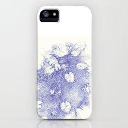 Lotus in blue iPhone Case