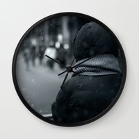 conan Wall Clocks featuring Waiting for Conan by Benjamin Hunter