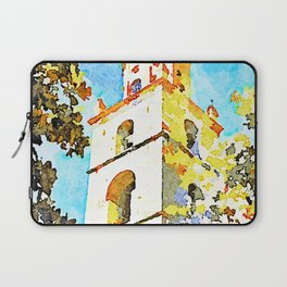 Teramo: bell tower of the cathedral Laptop Sleeve