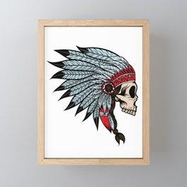 Indian skull Framed Mini Art Print