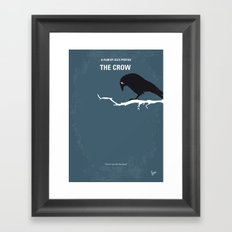 No488 My The Crow minimal movie poster Framed Art Print