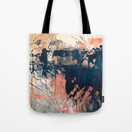 Hidden Gem [1]: an abstract mixed media piece in pink, blue, gold and white Tote Bag