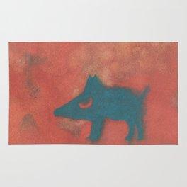 Moon dog Rug