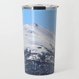 Blue Sky and Snowy Mountain Top Travel Mug