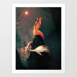Mermaid I Art Print