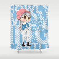ghibli Shower Curtains featuring Grown-Up Ghibli - Sophie by monobuu