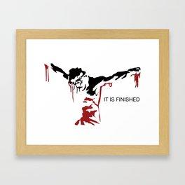Jesus - It is Finished Framed Art Print