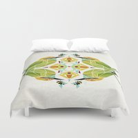 soul eater Duvet Covers featuring green bee eater  by Manoou