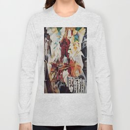 """Robert Delaunay """"Graphic Champs de Mars: The Red Tower"""" Long Sleeve T-shirt"""