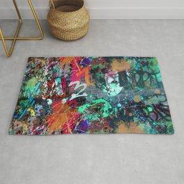 Graffiti and Paint Splatter Rug