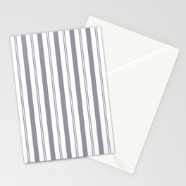 Pantone Lilac Gray & White Wide & Narrow Vertical Lines Stripe Pattern Stationery Cards