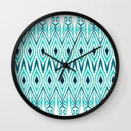 Ikat Jade Wall Clock